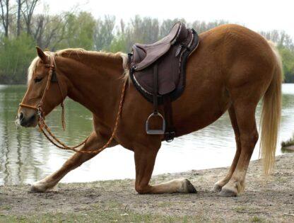 artificial leather saddle