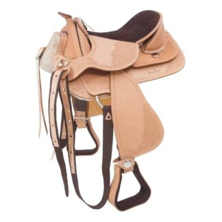 beautiful western saddle