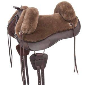 sheepskin saddle
